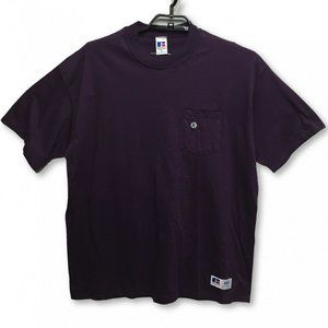 Russell Athletic Vintage T Shirt Purple Deadstock